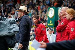 Sprehe, Paul (GER);<br /> Theodorescu, Monica (GER);<br /> Hilberath, Johnny (GER), <br /> Aachen - Europameisterschaften 2015<br /> Grand Prix Special<br /> © www.sportfotos-lafrentz.de/Stefan Lafrentz