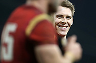 Liam Williams of Wales is all smiles after the match. RBS Six Nations 2017 international rugby, Wales v Ireland at the Principality Stadium in Cardiff , South Wales on Friday 10th March 2017.  pic by Andrew Orchard, Andrew Orchard sports photography