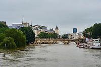 France, Paris, Inondations du 3 juin 2016, Ile de la Cité // France, Paris, flood of June 3 2016, Cité island