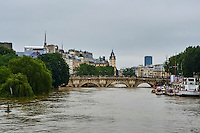 France, Paris, Inondations du 3 juin 2016, Ile de la Cité // France, Paris, flood of June 3 2016, Cité island