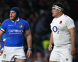 March 9, 2019 - London, England, United Kingdom - London, ENGLAND, 9th March .L-R Luca Bigi of Italy  and Jamie George of England.during the Guinness 6 Nations Rugby match between England and Italy at Twickenham  stadium in Twickenham  England on 9th March 2019. (Credit Image: © Action Foto Sport/NurPhoto via ZUMA Press)