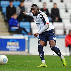 TELFORD COPYRIGHT MIKE SHERIDAN 9/3/2019 - Amari Morgan Smith of AFC Telford shoots during the National League North fixture between AFC Telford United and FC United of Manchester (FCUM) at the New Bucks Head Stadium