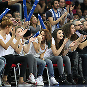 Anadolu Efes's and Fenerbahce Ulker's during their Euroleague Top 16 round 7 basketball match Anadolu Efes between Fenerbahce Ulker at the Abdi Ipekci Arena in Istanbul at Turkey on Friday, February 21, 2014. Photo by Aykut AKICI/TURKPIX