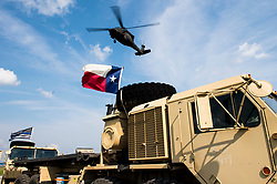 A U.S. Navy MH-60S Sea Hawk helicopter departs the Hurricane Harvey relief staging area in Beaumont, Texas, Sept. 3, 2017. Hurricane Harvey formed in the Gulf of Mexico and made landfall in southeastern Texas, bringing record flooding and destruction to the region. U.S. military assets supported FEMA as well as state and local authorities in rescue and relief efforts.<br /><br />(U.S. Air Force photo by Tech. Sgt. Larry E. Reid Jr.)  Please note: Fees charged by the agency are for the agency's services only, and do not, nor are they intended to, convey to the user any ownership of Copyright or License in the material. The agency does not claim any ownership including but not limited to Copyright or License in the attached material. By publishing this material you expressly agree to indemnify and to hold the agency and its directors, shareholders and employees harmless from any loss, claims, damages, demands, expenses (including legal fees), or any causes of action or allegation against the agency arising out of or connected in any way with publication of the material.