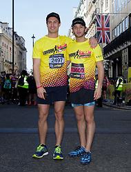 Frankie Foster (left) and Eyal Booker during the 2019 London Landmarks Half Marathon.