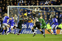 Photo: Pete Lorence.<br />Leicester City v Plymouth Argyle. Coca Cola Championship. 11/11/2006.<br />Barry Hayles heads the ball into the back of the net, securing the equaliser.
