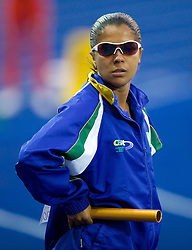 Brazil's Rosemar Maria Neto during warming up during the women's 4x100m relay race of the 12th IAAF World Athletics Championships at the Olympic Stadium on August 22, 2009 in Berlin, Germany. (Photo by Vid Ponikvar / Sportida)