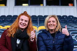 Two early arrivals for the match - Mandatory by-line: Nick Browning/JMP - 20/12/2020 - RUGBY - Sixways Stadium - Worcester, England - Worcester Warriors Women v Harlequins Women - Allianz Premier 15s
