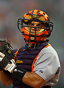July 1, 2006, Pittsburgh, Pennsylvania, USA;  Catcher Iván Rodríguez of the Detroit Tigers looks to the dugout for a sign.  The Tigers lost to the Pirates 9-2.