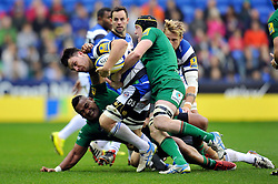 David Sisi of Bath Rugby is tackled by Luke Narraway of London Irish - Photo mandatory by-line: Patrick Khachfe/JMP - Mobile: 07966 386802 22/11/2014 - SPORT - RUGBY UNION - Reading - Madejski Stadium - London Irish v Bath Rugby - Aviva Premiership