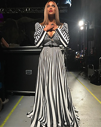 """Tyra Banks releases a photo on Instagram with the following caption: """"Beetlejuice Goddess \ud83d\ude4f\ud83c\udffd\nFace: @valentefrazierartistry\nHair: @kiyahwright1\nStyle: @jstylela\nDress: @FouadSarkisCouture"""". Photo Credit: Instagram *** No USA Distribution *** For Editorial Use Only *** Not to be Published in Books or Photo Books ***  Please note: Fees charged by the agency are for the agency's services only, and do not, nor are they intended to, convey to the user any ownership of Copyright or License in the material. The agency does not claim any ownership including but not limited to Copyright or License in the attached material. By publishing this material you expressly agree to indemnify and to hold the agency and its directors, shareholders and employees harmless from any loss, claims, damages, demands, expenses (including legal fees), or any causes of action or allegation against the agency arising out of or connected in any way with publication of the material."""