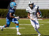 Dutch Fork Silver Foxes wide receiver Jalin Hyatt (7) scores on a long touchdown reception against the Dorman Cavaliers in the Class AAAAA State Championship Game at Williams-Brice Stadium in Columbia, SC. Dutch Fork wins their 4th straight state championship at Williams Brice Stadium. Photos ©JeffBlakePhoto.com