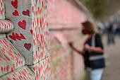 Britain Virus Memorial Wall