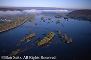 Southcentral Pennsylvania, Aerial Photographs, Susquehanna River, Islands, Fall Foliage, Dauphin Co. PA
