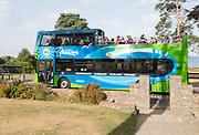 Purbeck Breezer open top bus at Studland, Swanage, Dorset, England, UK