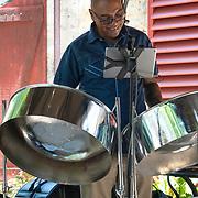 Steel Drum Player at St Nicholas Abbey in Saint Peter, Barbados