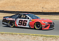 June 22, 2018 - Sonoma, CA, U.S. - SONOMA, CA - JUNE 22:  Parker Kligerman, driving the #(96) Toyota for Gaunt Brothers Racing heads into turn 10 on Friday, June 22, 2018 at the Toyota/Save Mart 350 Practice day at Sonoma Raceway, Sonoma, CA (Photo by Douglas Stringer/Icon Sportswire) (Credit Image: © Douglas Stringer/Icon SMI via ZUMA Press)