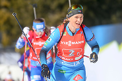 Bescond Anais of France competes during the IBU World Championships Biathlon 4x6km Relay Women competition on February 20, 2021 in Pokljuka, Slovenia. Photo by Vid Ponikvar / Sportida
