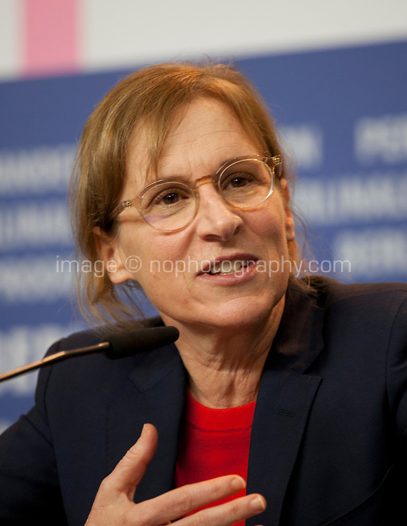 Director and Screenwriter Kelly Reichardt at the press conference for the film First Cow at the 70th Berlinale International Film Festival, on Saturday 22nd February 2020, Hotel Grand Hyatt, Berlin, Germany. Photo credit: Doreen Kennedy