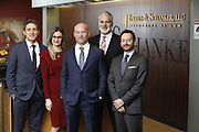 SHOT 1/8/19 12:18:45 PM - Bachus & Schanker LLC lawyers James Olsen, Maaren Johnson, J. Kyle Bachus, Darin Schanker and Andrew Quisenberry in their downtown Denver, Co. offices. The law firm specializes in car accidents, personal injury cases, consumer rights, class action suits and much more. (Photo by Marc Piscotty / © 2018)