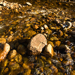 The Saco River in Crawford Notch State Park in new Hampshire's White Mountains.