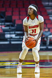 NORMAL, IL - November 05: Tete Maggett during a college women's basketball game between the ISU Redbirds and the Truman State Bulldogs on November 05 2019 at Redbird Arena in Normal, IL. (Photo by Alan Look)