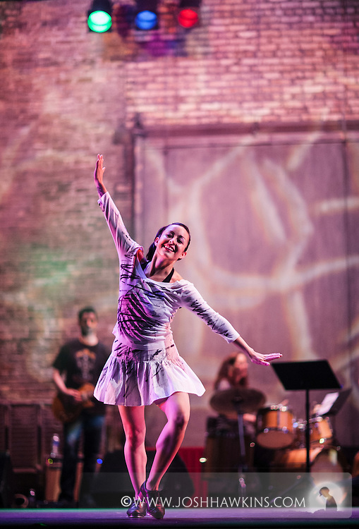 """Chicago Tap Theatre's production of Totally Tapular at the Athenaeum Theater in Chicago....""""Take on Me"""".Dancers: Jamie Salas.Choreography by: Mark Yonally"""