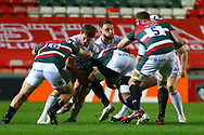 Gloucester Rugby defend a drive during the Gallagher Premiership Rugby match between Leicester Tigers and Gloucester Rugby at Welford Road Stadium, Leicester, United Kingdom on 21 November 2020.