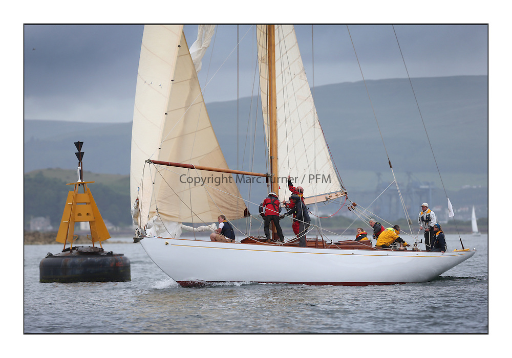 Day one of the Fife Regatta, Round Cumbraes Race.<br /> <br /> Solway Maid, Roger Sandiford, GBR, Bermudan Cutter, Wm Fife 3rd, 1940<br /> <br /> * The William Fife designed Yachts return to the birthplace of these historic yachts, the Scotland's pre-eminent yacht designer and builder for the 4th Fife Regatta on the Clyde 28th June–5th July 2013<br /> <br /> More information is available on the website: www.fiferegatta.com