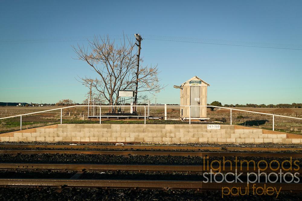 Railway Signals, Nevertire Rail Siding, NSW, Australia