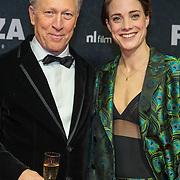 NLD/Amsterdam/20191118 - Filmpremiere Penoza: The Final Chapter, Hajo Bruins en partner Linde van den Heuvel