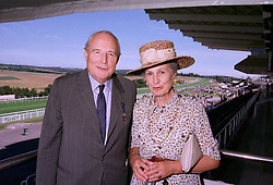 The DUKE & DUCHESS OF RICHMOND & GORDON at a race meeting in Sussex on 29th July 1997.MAS 34