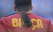 Fussball: International Friendly, 125 years, Hamburger SV - FC Barcelona 1:2, Hamburg, 24.07.2012<br /> goalkeeper Pinto (Barcelona), hairs<br /> © Torsten Helmke