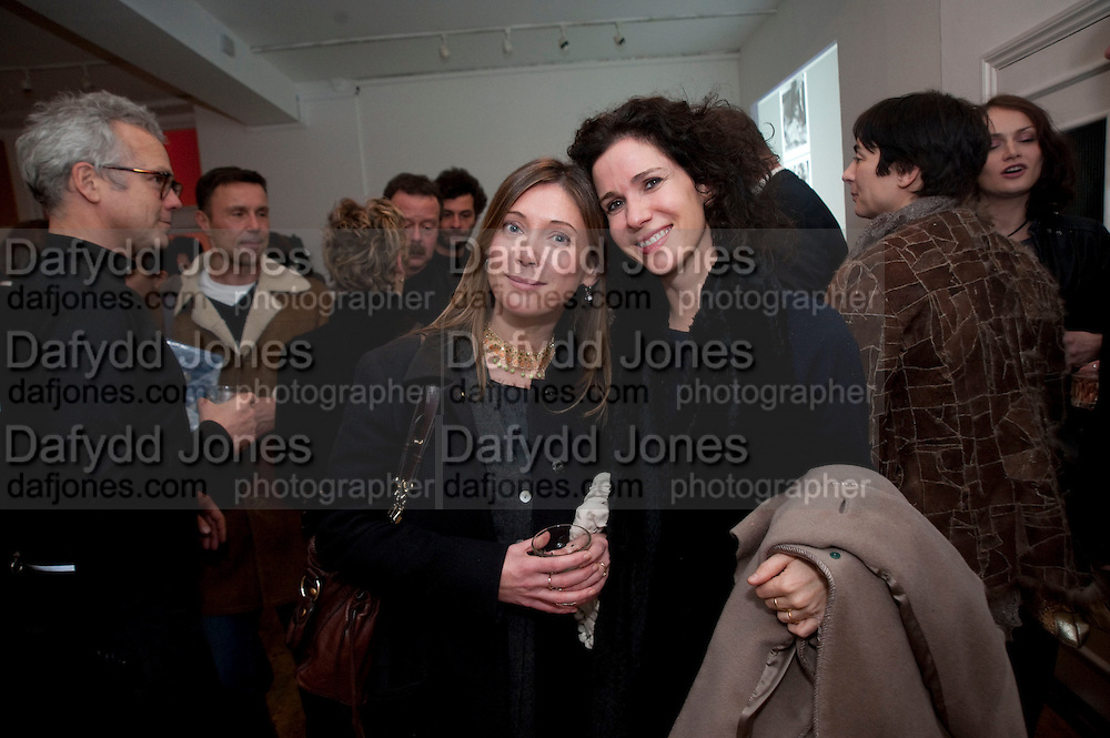 LOUISE WILSON; MOLLIE DENT-BROCKLEHURST, The  launch of Johnnie Shand Kydd's book Siren City. ( Photographs of Naples) Claire<br /> de Rouen books published  by Other Criteria. Charing Cross Rd. London. 30 November 2009