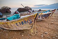 Fishing boats and shipwreck at point San Jacinto, Baja, Mexico