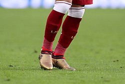 The golden boots of Liverpool's Mohamed Salah during the Premier League match at the AMEX Stadium, Brighton. PRESS ASSOCIATION Photo Picture date: Saturday December 2, 2017