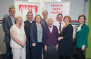 NO FEE PICTURES                                                                                                                                                30/5/19 Community groups from across Ireland attended the Befriending Network Ireland (BNI) seminar in Dublin's Guinness Enterprise Centre on Thursday, which discussed the development of a sustainable community sector. Pictured are Sean Moynihan, CEO Alone, Margaret Donnelly, of South Central, Eamon Brennan, Lucan Mens Shed, Ann Devoy Kelly, Befrienders Dublin, Niall O'Sullivan, Community Foundation for Ireland, Margaret Gillies, Dunlaoghaire Rathdown Older People Network, Paul Moloney, Befrienders Dublin, Mary White, Dunlaoghaire Rathdown cc, Mary O'Donoghue, Making Connections Picture: Arthur Carron