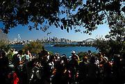 Sydney city skyline viewed from Taronga Park Zoo. Sydney, Australia