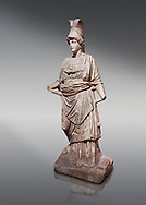 Roman statue of Athena. Marble. Perge. 2nd century AD. Inv no . Antalya Archaeology Museum; Turkey. .<br /> <br /> If you prefer to buy from our ALAMY STOCK LIBRARY page at https://www.alamy.com/portfolio/paul-williams-funkystock/greco-roman-sculptures.html . Type -    Antalya     - into LOWER SEARCH WITHIN GALLERY box - Refine search by adding a subject, place, background colour, museum etc.<br /> <br /> Visit our ROMAN WORLD PHOTO COLLECTIONS for more photos to download or buy as wall art prints https://funkystock.photoshelter.com/gallery-collection/The-Romans-Art-Artefacts-Antiquities-Historic-Sites-Pictures-Images/C0000r2uLJJo9_s0