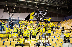 Saleski grascaki, fans of Gorenje during handball match between RK Celje Pivovarna Lasko and RK Gorenje Velenje in Eighth Final Round of Slovenian Cup 2015/16, on December 10, 2015 in Arena Zlatorog, Celje, Slovenia. Photo by Vid Ponikvar / Sportida