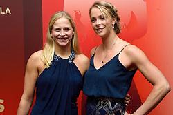 15-12-2015 NED: NOC*NSF Sportgala 205, Amsterdam<br /> In de Amsterdamse Rai werden de prijzen sportman, sportvrouw, sportploeg, coach en paralympische sporter verdeeld / Madelein Meppelink (r) en Marleen van Iersel