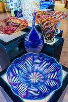 Homeblown glass art, Garden City Glass, Jewell Gardens, Skagway, Inside Passage, southeast Alaska USA.