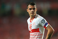 10th September 2017 - 2018 FIFA World Cup Qualifying (Group B) - Portugal v Switzerland - Granit Xhaka of Switzerland looks dejected - Photo: Simon Stacpoole / Offside.