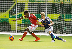 Wales Michael Ellery and Scotland's Billy Gilmour. Scotland 2 v 2 Wales, Under 16 Victory Shield, Oriam 1/11/2016.