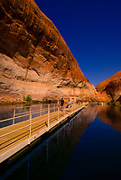 Boat dock, Rainbow Bridge National Monument, Lake Powell, Glen Canyon National Recreation Area, Arizona/Utah border USA