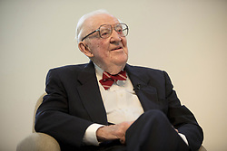 October 4, 2018 - Boca Raton, FL, USA - Retired Supreme Court Justice John Paul Stevens during his onstage interview with Palm Beach Post columnist Frank Cerabino at the Unitarian Universalist Fellowship of Boca Raton, on Thursday, Oct. 4, 2018, in Boca Raton, Fla. (Credit Image: © Greg Lovett/Palm Beach Post/TNS via ZUMA Wire)