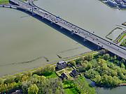 Nederland, Noord-Holland, Amsterdam, 07-05-2021; Ring A10 Oost overgaand in Ringweg Noord. In de voorgrond Nieuwe Diep en Diemerzeedijk met Gemeenlandshuis.<br /> Ring A10 East changes into Ringweg Noord. In the foreground Nieuwe Diep and Diemerzeedijk with Gemeenlandshuis.<br /> <br /> luchtfoto (toeslag op standaard tarieven);<br /> aerial photo (additional fee required)<br /> copyright © 2021 foto/photo Siebe Swart