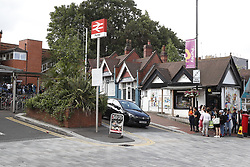 © Licensed to London News Pictures. 12/07/2019. London, UK. Purley railway station is open again after an arrest was made when a teenager was stabbed in Purley, south London. A teenager was murdered and two others were injured, including the murder suspect. Photo credit: Peter Macdiarmid/LNP