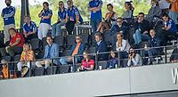 AMSTELVEEN -  Burgermeester en wethouder van Amstelveen op de tribune met oa Erik Gerritsen,  EK hockey, finale Nederland-Duitsland 2-2. mannen.  Nederland wint de shoot outs en is Europees Kampioen.  COPYRIGHT KOEN SUYK