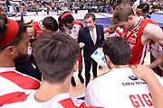 DESCRIZIONE :  Lega A 2014-15  Banco di Sardegna Sassari - EA7 Milano playoff Semifinale gara 3 <br /> GIOCATORE : Banchi Luca<br /> CATEGORIA : Low Allenatore Coach Time Out<br /> SQUADRA : EA7 Milano<br /> EVENTO : PlayOff Semifinale gara 3<br /> GARA : Banco di Sardegna Sassari - EA7 Milano PlayOff Semifinale Gara 3<br /> DATA : 02/06/2015 <br /> SPORT : Pallacanestro <br /> AUTORE : Agenzia Ciamillo-Castoria/Richard Morgano<br /> Galleria : Lega Basket A 2014-2015 Fotonotizia : Sassari Lega A 2014-15  Banco di Sardegna Sassari- EA7 Milano playoff Semifinale  gara 3<br /> Predefinita :
